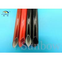 Quality Heat proof High Voltage Silicone Fiberglass Sleeving inside fiber and outside for sale