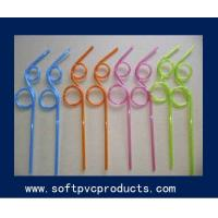 Wholesale Soft PVC Rubber Silicone Drinking Straw Holder / Recyled Plastic Drink Straws from china suppliers