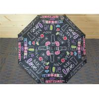Wholesale Study Storm Proof Windproof Folding Umbrella With Letter Patterns Metal Tips from china suppliers
