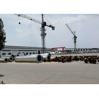 Single Pole Steel Transmission Tower For Power Transmission Silver Color for sale