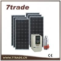 China 20HP AC pump solar water pumping system for irrigation on sale