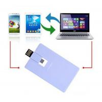 Wholesale Plastic Credit Card OTG / Mobile Phone USB Flash Drive 16GB 32GB for Smart Phone from china suppliers