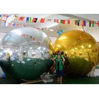 Best 3m Inflatable Advertising Balloons Christmas Mirror Ball Silver / Gold Color wholesale