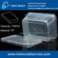 Wholesale PP 1000ml thin wall disposable rectangular plastic food box/ transparent packaging mould from china suppliers