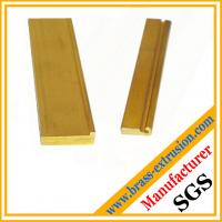Wholesale brass copper alloy extrusion profiles section hardware OEM from china suppliers