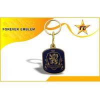 Wholesale Printed Logo Metal Personalized Key Chains Eco-friendly With Epoxy from china suppliers