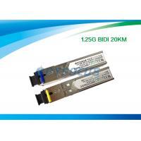 China Network Fiber SFP Optical Transceivers Telecom Communication 1.25G Bi-Di 20km SC for sale