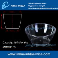 Wholesale clear small thin wall PS Disposable Plastic Bowls mould with 180ml from china suppliers