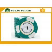 Best Clay Two block TEXAS HOLDEM poker chips with Paper Stickers and engraved words on the surface wholesale