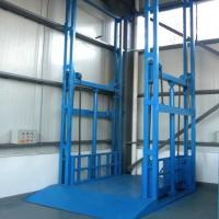 Wholesale guide rail hydraulic cargo elevator vertical goods lift platform from china suppliers