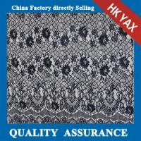 Wholesale YAX China supplier wholesale High quality The latest black 100% nylon wedding lace fabric from china suppliers