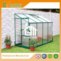 Buy cheap Green Color Wall Lean-to 4mm PC Aluminum Greenhouse - 286x145x221cm from wholesalers