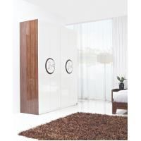 Wholesale New Design Melamine Material Modern bedroom Custom wardrobe in fashion handle with Open door from china suppliers