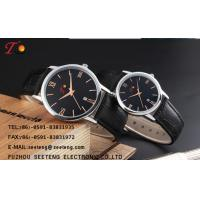 Wholesale PU leather strap for couple watch with alloy case and color  band  dial customized from china suppliers