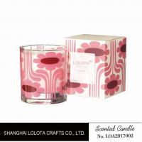 Wholesale Pink Flower Pattern Scented Soy Wax Candle For Change The Home Atmosphere from china suppliers