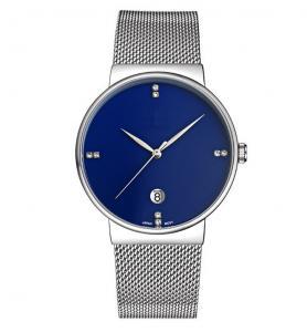 Best Customiz logo fashion alloy wrist watch with S/S mesh band , Quartz men watch OEM wholesale