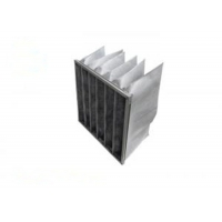 Wholesale F8 Activated Carbon And Synthetic Fiber Media Pocket Air Filter Aluminum Frame from china suppliers