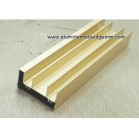 Wholesale Anodised Gold Aluminum Extrusion Sliding Door Track / Channel from china suppliers