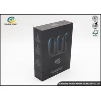 Wholesale Silver Stamping Matte Black Cardboard Gift Boxes For Facial Mask from china suppliers