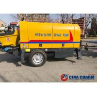 Wholesale High Efficiency Trailer Concrete Pump HP10 10m3/H Capacity With CE Certification from china suppliers