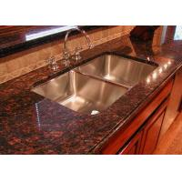 Modern Brown Granite Slab Countertops Kitchen Cabinet Full Bullnose Edging