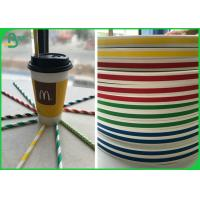 China Small Size Biodegradable Printable FDA Straw Paper With Food Grade Ink on sale