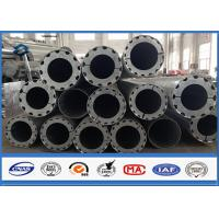 Best Hot Roll Steel Metal Utility Poles , 345Mpa Min Yield Stress Electrical Poles And Towers wholesale
