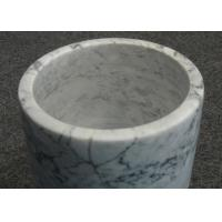 Wholesale Light Color Marble Wine Cooler , Marble Wine Chillers Single Bottle 13x18cm from china suppliers