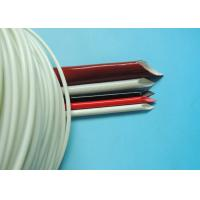 Quality 4.0KV 10mm Black Resin Silicone Coated Fiberglass Sleeve For Wire Insulation for sale