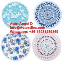Wholesale 100% Cotton Cheap Circle/Round Beach Towels With Tassels from china suppliers