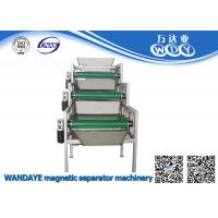 3 layer Permanent Magnetic Separator , Conveyor Belt Magnetic Roller Separator