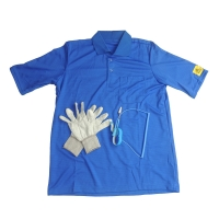 Wholesale EN 61340 Static Dissipative ESD T Shirt With 10E6-8 Antistatic Glove from china suppliers