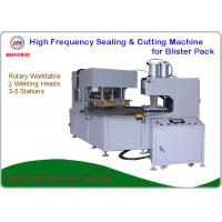 China 2 Welding Head High Frequency Blister Packing Machine Rotary Worktable 12 Month Warranty on sale