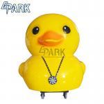 China Yellow Fiber Glass Duck Swing Kiddy Ride Machine CE Certificate 130W for sale