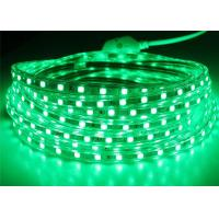 Wholesale Green High Voltage LED Strip 165 Feet / Roll 14.4W / M Lamp Power from china suppliers