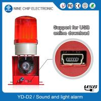 Light and sound sensor alarm, light and sound smoke detector and strobe emergency lights for sale