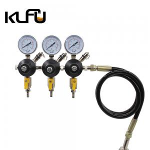Wholesale Inlet Size W21.8 / W24.3 Dual Gauge 90PSI CO2 Pressure Reducing Valve from china suppliers
