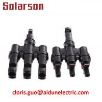 China (TUV CE) 600V DC MC4 T Branch Solar Connector 3 in 1 Male and Female on sale
