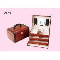 Wholesale Leather Wrapped Jewelry Wooden Gift Boxes With 2 Colors W31 from china suppliers