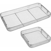 China Wire Mesh Surgical Instrument Sterilization Containers Tray For Washing / Sterilizing for sale