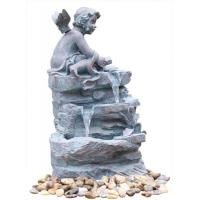 Wholesale Angel On Rock Waterfall Resin Garden Fountains with LED Light Anchor Falls Cascading from china suppliers
