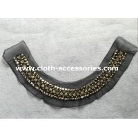 Diamond Big Arylic Beaded Collar Necklace With Round ABS Plated Beads