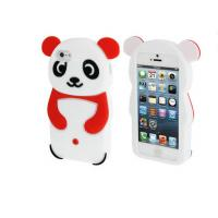 Wholesale Cute Silicone Cell Phone Case Shockproof / IPhone 5 3D Panda Silicone Case from china suppliers