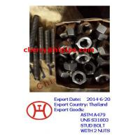 China astm a479 uns s31803 stud bolts with 2 nuts on sale