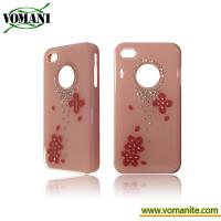 PC gel case cover for Apple iphone 4S with dimaond