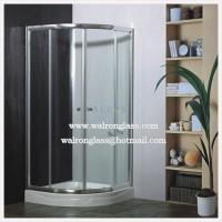 Wholesale Corner Simple Tempered Glass Bathroom Simple Shower Room Glass from china suppliers