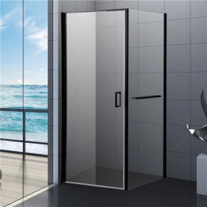 Best 800x800 Black Bathroom Shower Enclosure, Square Shower Kits with Towel Rack wholesale