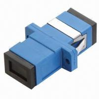 Wholesale Fiber Optical Adapter with SC Simplex Single Mode, Flanges, PBT/ABS Optional, Low Insertion Loss  from china suppliers