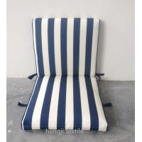 Wholesale stripe pattern 4 set velcro middle back patio chair cushion from china suppliers