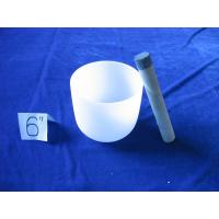 China Crystal chakra singing bowl for sound therapy silica 99% on sale